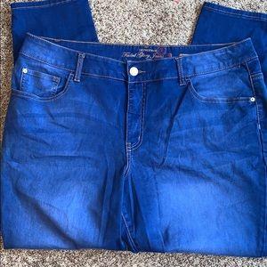 22W Faded Glory Jeans Skinny Denim Jeans